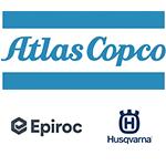 Logotyper för Atlas Copco, Epiroc och Husqvarna